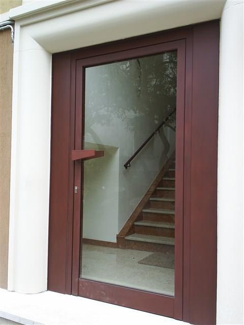 porta in vetro di design
