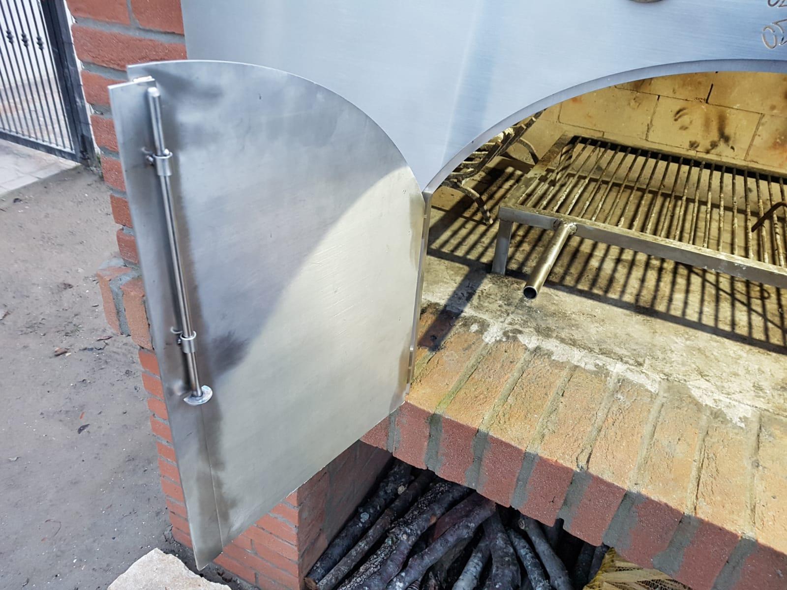 Chiusura barbecue in acciaio inox