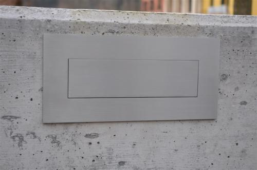 A16-Buca delle lettere in acciaio inox