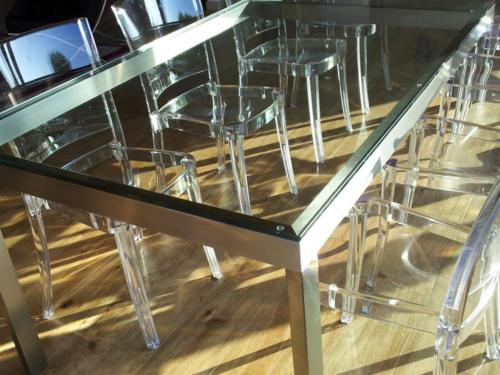 A26-Tavolo inox e vetro