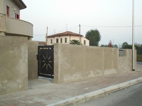 B86-Cancello pedonale con disegno taglio laser