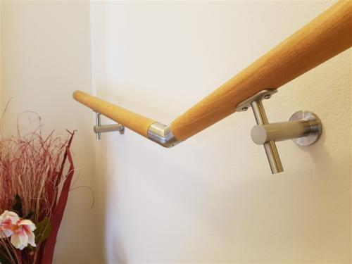 C03-Corrimano in legno e acciaio inox