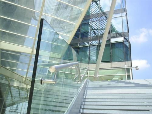 C23-Corrimano inox a vetro
