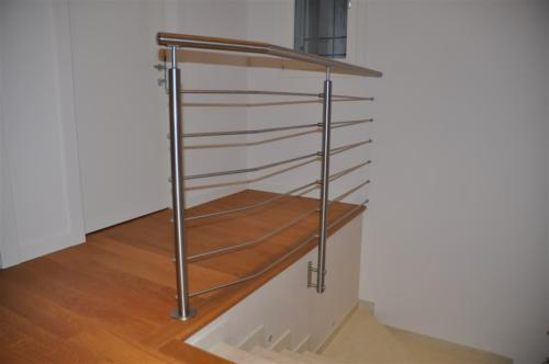 E70-Parapetto interno inox satinato