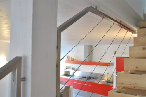 E92-Parapetto inox fissaggio soffitto