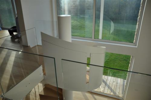 G40-Balaustra soppalco in vetro
