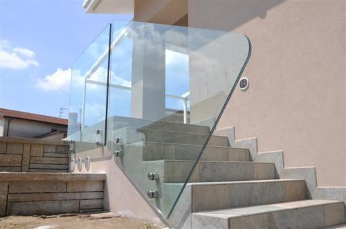 G41-Parapetto esterno vetro sagomato