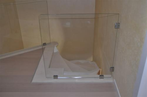 G43-Balaustra in vetro con pinze
