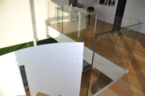 G86-Balaustra in vetro trasparente