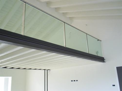 G91-Balaustra interna in vetro trasparente