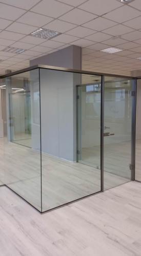 I22-Pareti in vetro con accessori inox